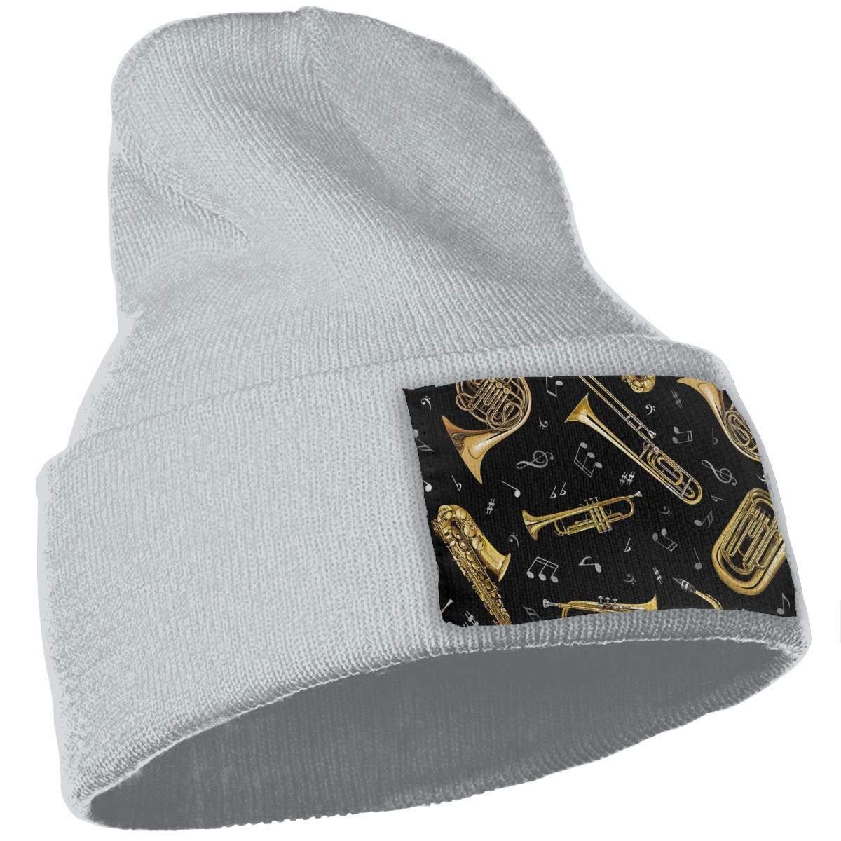 Trumpet Men Women Stylish Kintted Beanie Hat Slouchy Jogging Hats