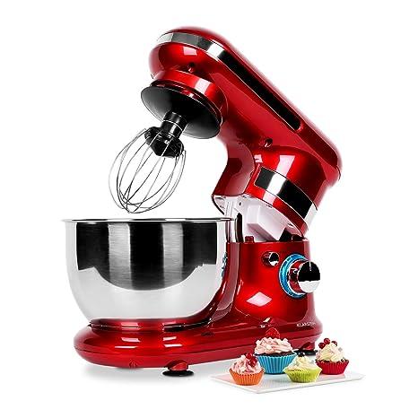 Klarstein Serena Rossa Robot de Cocina (Batidora, Amasadora ...