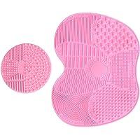 LEADSTAR 2 Pack Brosse Nettoyante Pinceau en Silicone, Outil Tapis de Nettoyage pour Pinceaux de Maquillage (Rose)