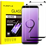 QUESPLE Galaxy S9 Glass Screen Protector, [2-Pack] Tempered Glass Screen Protector [9H Hardness][Anti-Scratch][Anti-Bubble][3D Curved] [High Definition] [Ultra Clear] for Samsung Galaxy S9