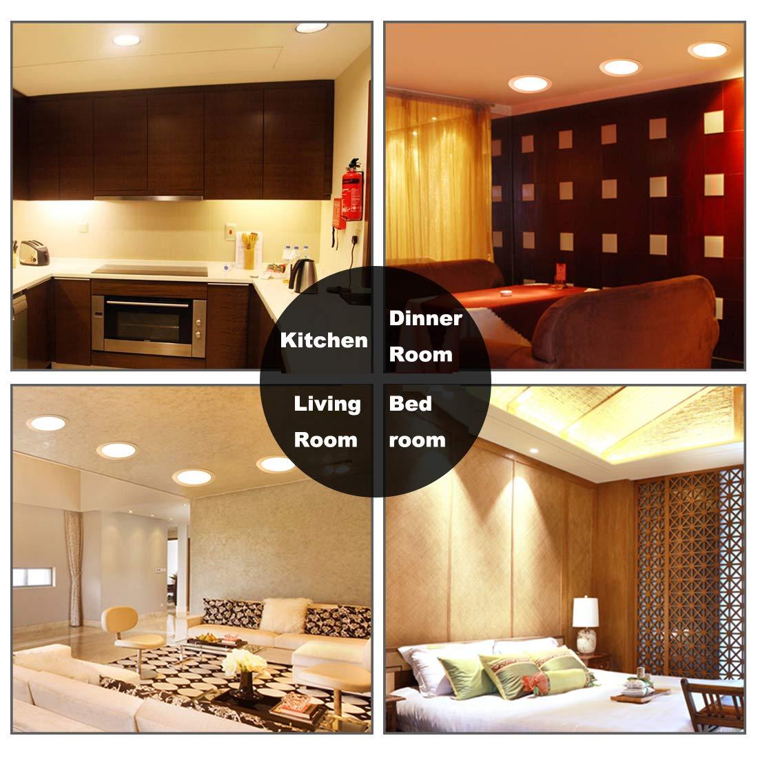 18W Luz de Techo Empotrada LED Redondo Panel de Luz Led Downlight Destacar Iluminaci/ón Cocina Ba/ño Corredor 4000K Neutral White Tama/ño del Agujero 20.5CM