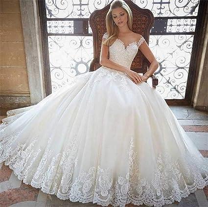 Elegence Z Vestido De Novia Blanco Elegante Sexy Escote En
