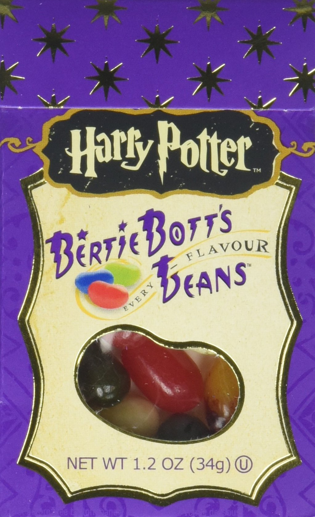 Harry Potter Bertie Botts Every Flavor Beans, 1.2oz boxes ~ 6 Pack