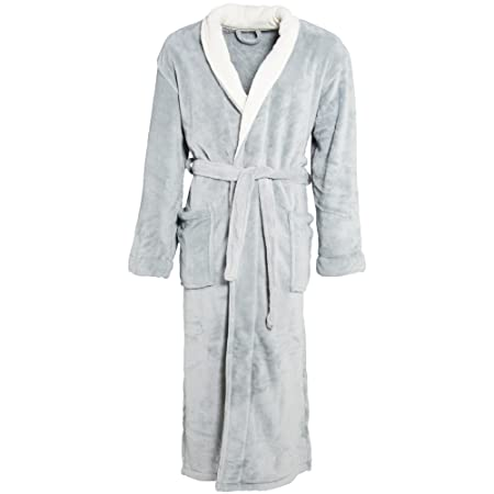 CelinaTex Womenu0027s And Menu0027s Bathrobe With Shawl Collar Dressing Gown Coral  Fleece Warm Soft And Comfortable