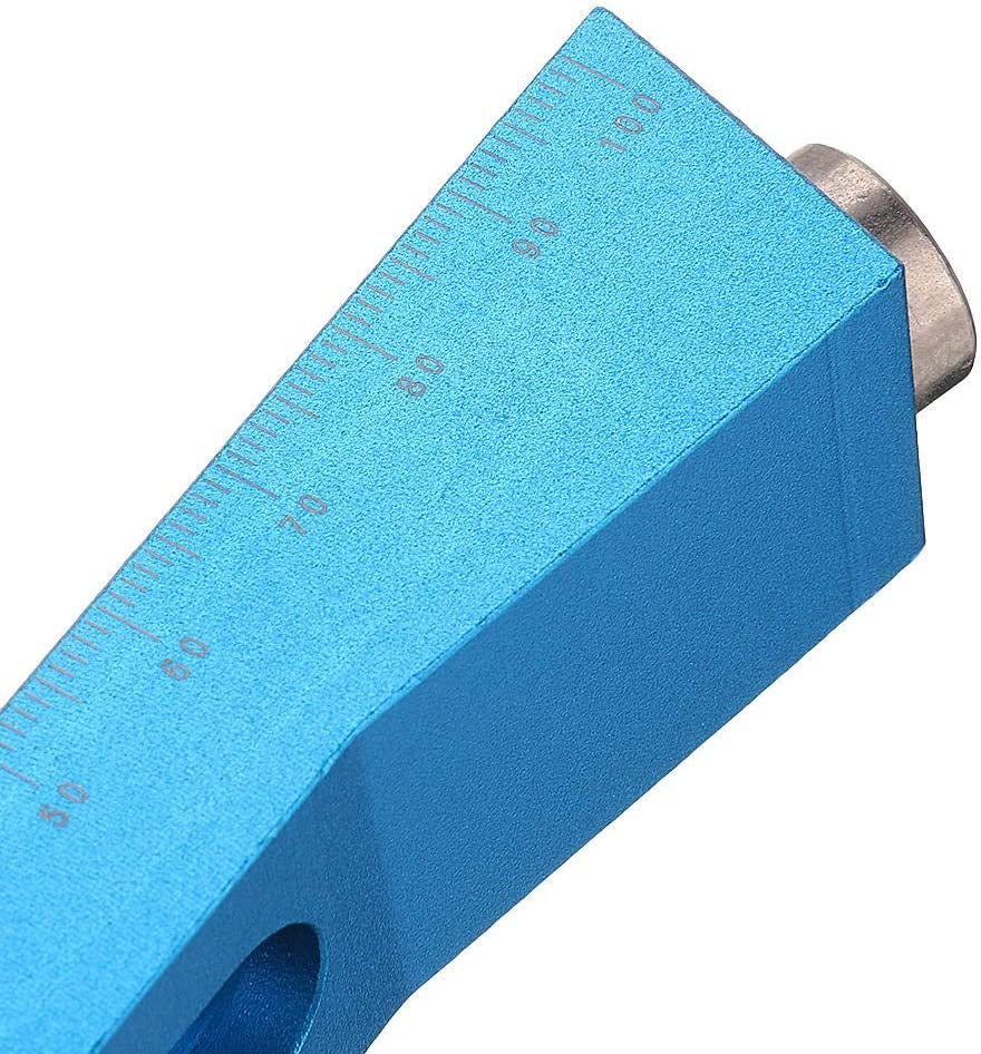 Ctghgyiki One-Hole Aluminum Alloy Pocket Hole Jig with Magnet 9.5mm Oblique Hole Drill Guide Woodworking Tool Woodworking Tools