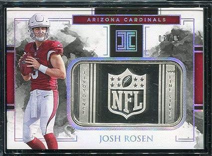 2018 Josh Rosen RC Impeccable 1oz Silver .999 Fine INGOT Arizona Cardinals  Rookie Trading Card b8c9aec95