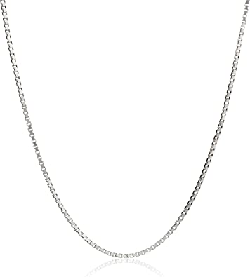 Honolulu Jewelry Company Sterling Silver 1mm Box Chain Necklace 14-36