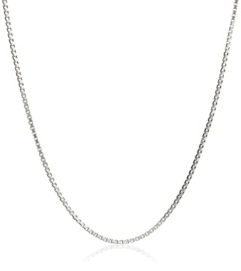 Amazon honolulu jewelry company sterling silver 1mm box chain amazon honolulu jewelry company sterling silver 1mm box chain 14 inches child size chain necklaces jewelry mozeypictures Gallery