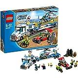 Lego City 60049 - Camion trasportatore con Elicottero della Polizia, con veicoli e personaggi dei ladri