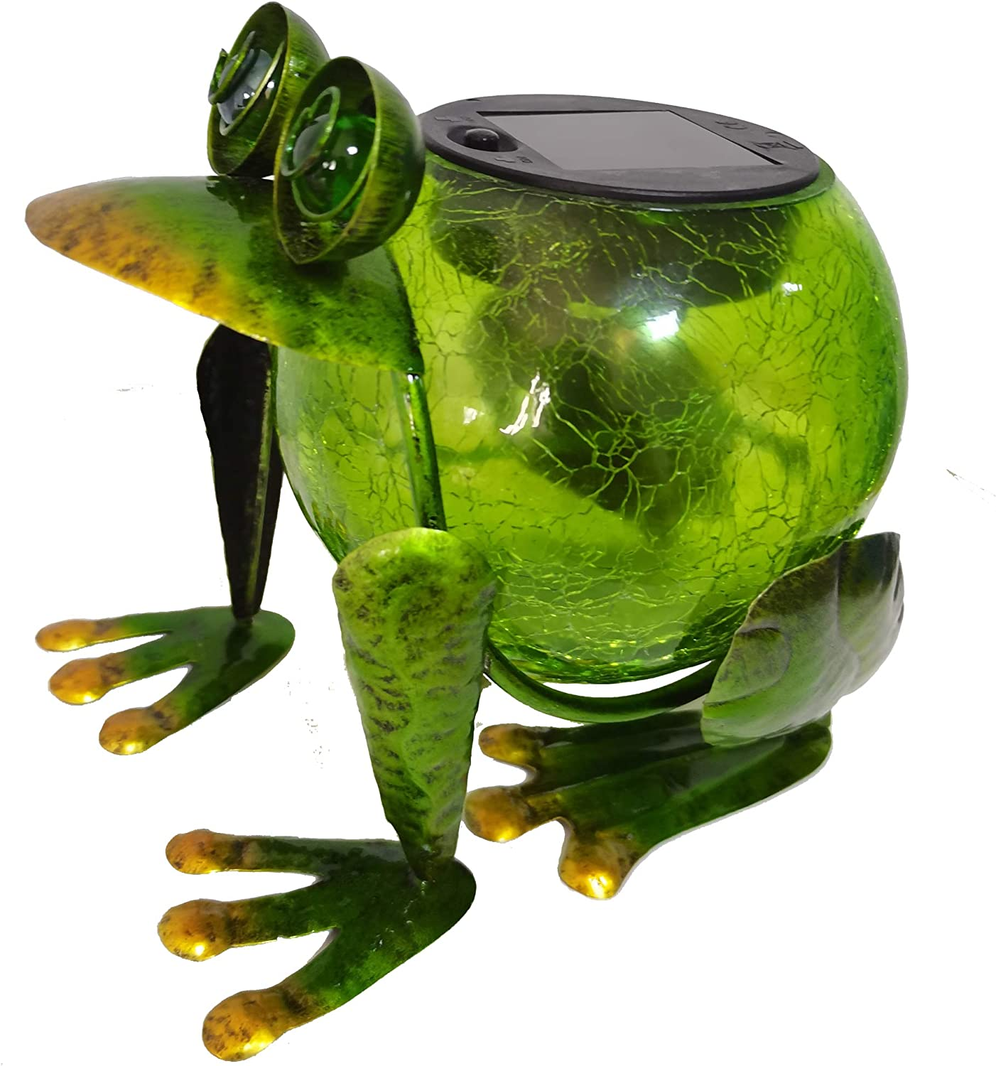 Yard Décor Frog Solar Light Iron Ornament Garden Decor Waterproof Outdoor Decorations for Patio Tabletop LED Lantern