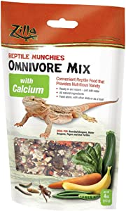 Zilla Reptile Munchies For Pets, 4-Ounce With Calcium