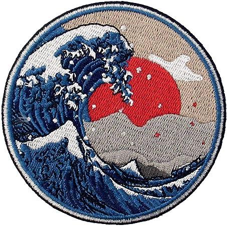 Parche termoadhesivo para la ropa, diseño de Gran ola de Kanagawa: Amazon.es: Hogar