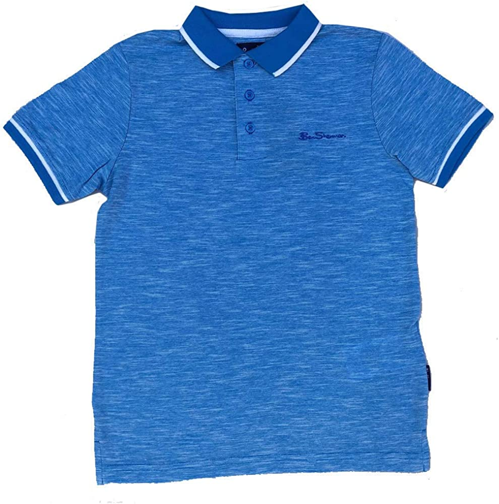 Ben Sherman Boys Polo T-Shirt Dresdon Blue Ages 7 Years up to 15 Years