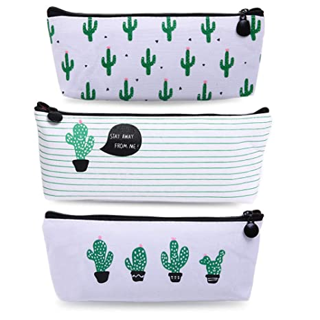 Amazon.com: Bonaweite Cactus - Estuche de lino para lápices ...