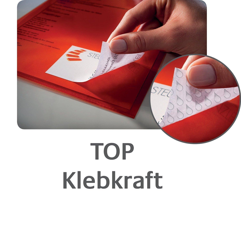 100 Blatt wei/ß Avery Zweckform 3490 Adressetiketten A4, Papier matt, 2.400 Etiketten universal, 70 x 36 mm