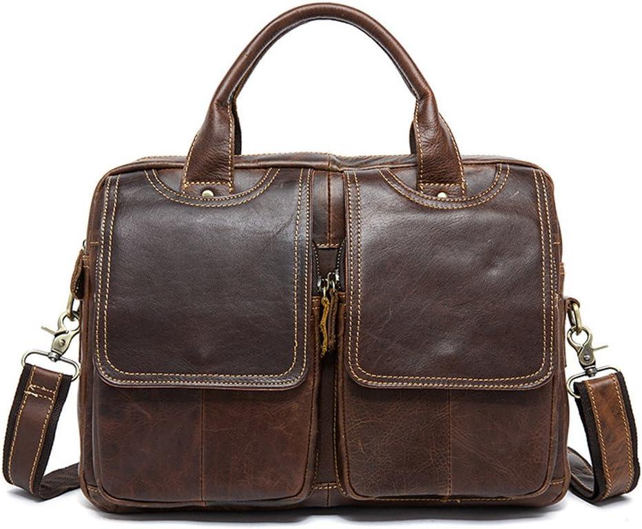 ブリーフケース ビジネスカジュアルブリーフケーストラベルバッグレザーに適したメンズメッセンジャーバッグショルダーバッグ 旅行、通勤、出張に適しています