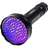 UV Black Light Flashlight,100 LED UV Flashlights, Super Bright Ultraviolet Flashlight Professional Blacklight Pet Urine Detec