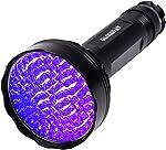 UV Black Light Flashlight,100 LED UV Flashlights, Super Bright Ultraviolet Flashlight