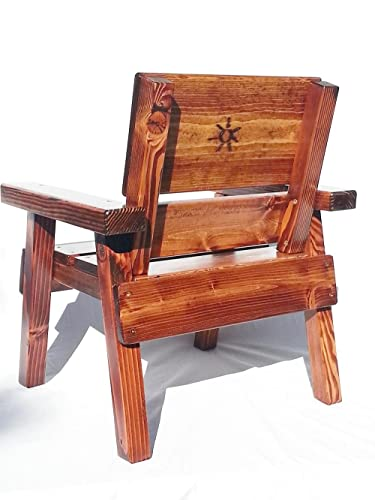 Childrens Outdoor Wood Chair Heirloom Gift Engraved and Painted Holstein Cow Design Patio Furniture