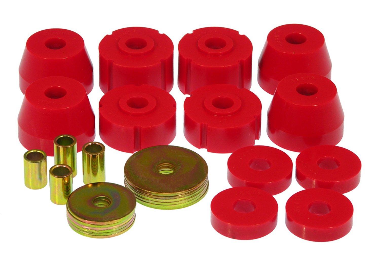 Prothane 4-102 Red Body Mount Kit