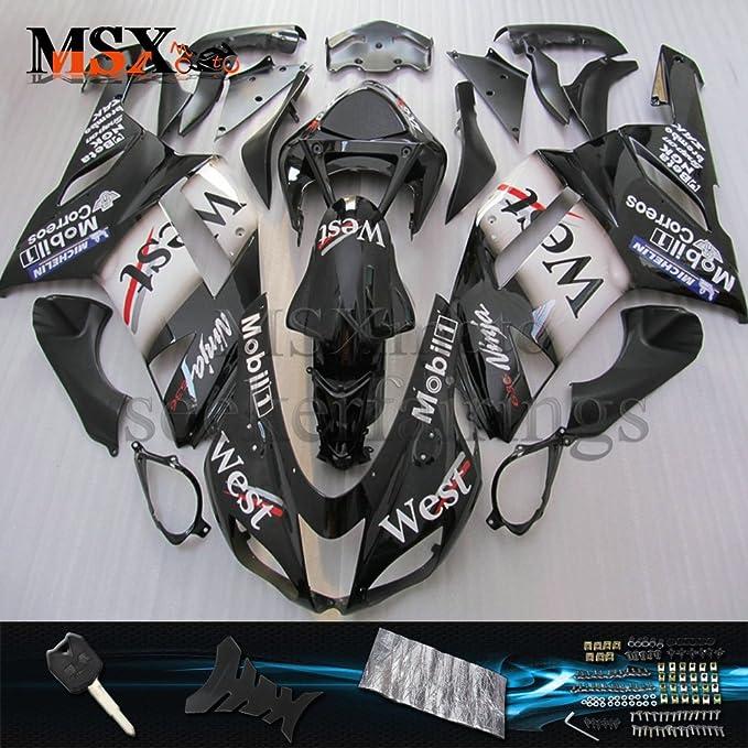 MSXmoto Kit de carenado para Kawasaki ZX6R 2007 2008 ZX636 ...