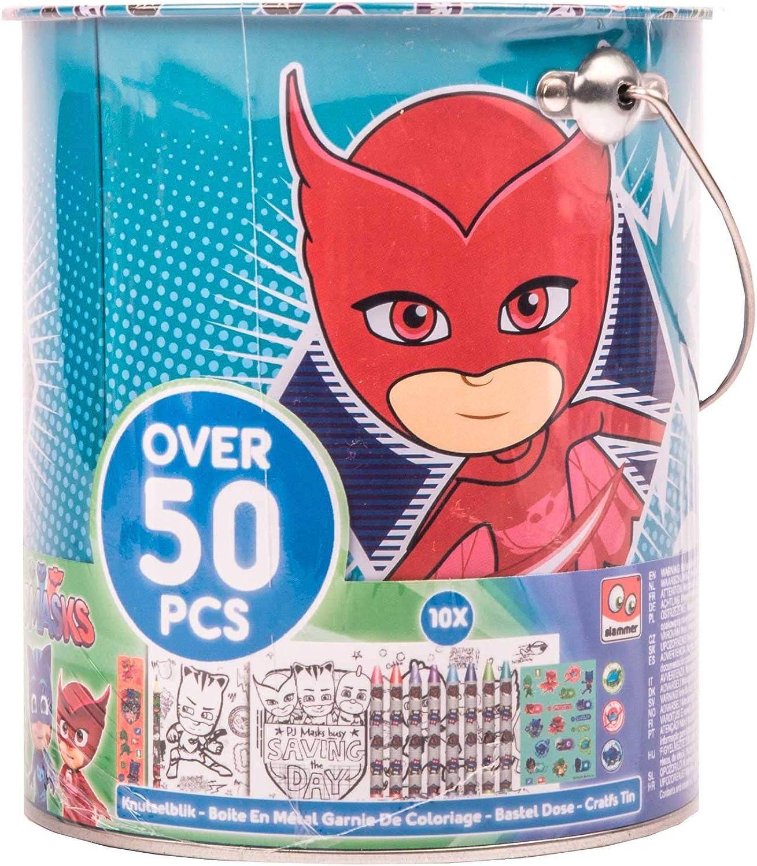 Joy Toy PJ Masks - Secchiello In Latta Base Colori 50 Pz ...
