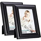 RPJC Solid Wood 3.5x5 Picture Frames and High Definition Glass for Table Top Display and Wall Mounting Photo Frame 2PK…