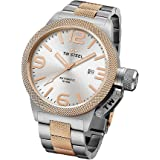 TW Steel Canteen Collection Men's Silver & Rose Gold Automatic Watch CB125