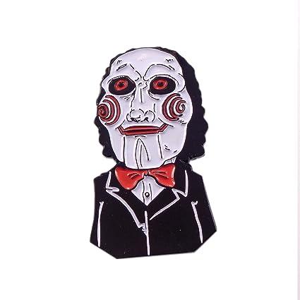 SAW Jigsaw Pin Evil Horror Movie Enamel Lapel Hat Pin