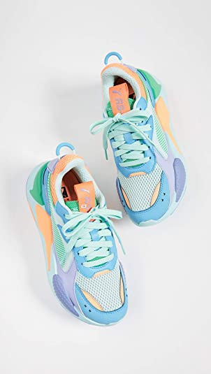 Amazon.com | PUMA Womens RS-X Colorblock Sneakers, Green/Blue/Orange/Purple, 6 M US | Fashion Sneakers