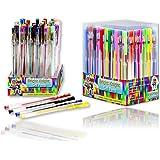 Bright Knight Gel Pens, 36 Gel Pen Set, Quality Gel Ink Pens, Neon Pastel Metallic Glitter. Ideal for Mandalas, Adult Therapy coloring, Secret Garden