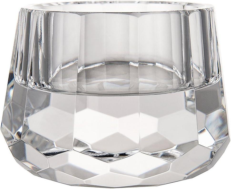 DONOUCLS Photophores Cristal taill/é Bougeoir Table Bureau en Clair 6.5 cm x 4.5 cm 1 PCS