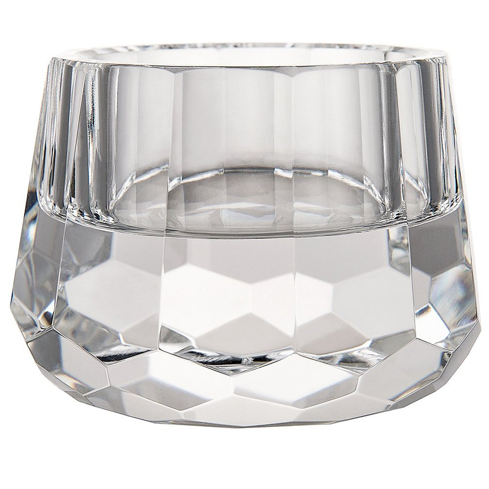 """DONOUCLS Crystal Votive Tealight Holders Christmas Decorations for Dinner 2.5"""" Diameter x 1.8"""" High"""