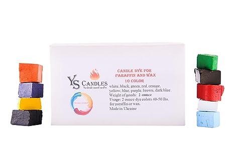 Wax dye 10 Color Wax Dye – DIY Candle Dye - Dye Flakes for Candle Making  Supplies Kit - Soy Dye for Candle Molds – for Soy Candle Wax Kit– for Hemp  ...
