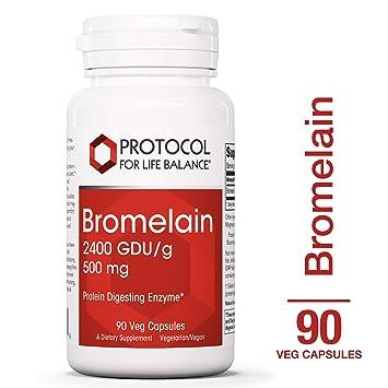 Protocol For Life Balance - Bromelain 2400 GDU/g 500 mg - Protein Digesting Enzyme