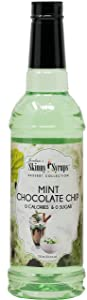 Jordan's Skinny Syrups |Sugar Free Mint Chocolate Chip Syrup | Healthy Flavors with 0 Calories, 0 Sugar, 0 Carbs | 750ml/25.4oz Bottle