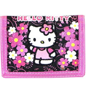 91875648a Amazon.com: Hello Kitty Handbag Black Flower Bow New Hand Bag Purse ...
