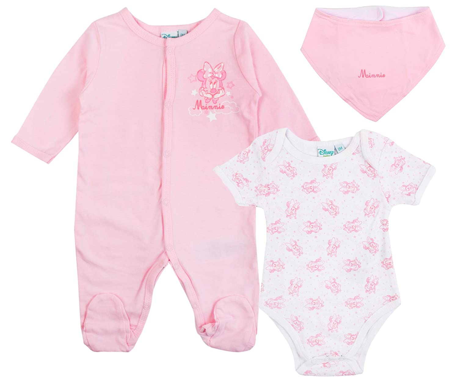 Disney Minnie Mouse Baby Girls Outfit 3 Piece Set Shoe Directory