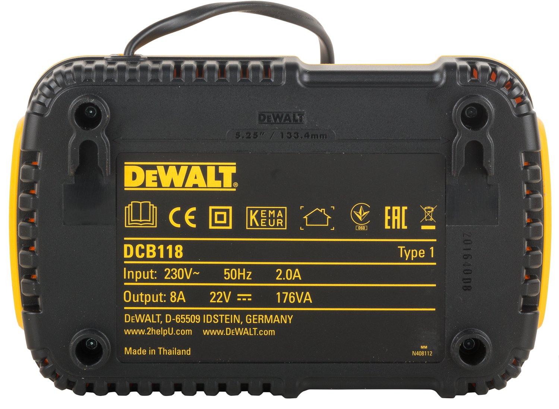 DCB118-QW 1 St/ück DeWALT Schnellladegeraet f/ür 54 18 V