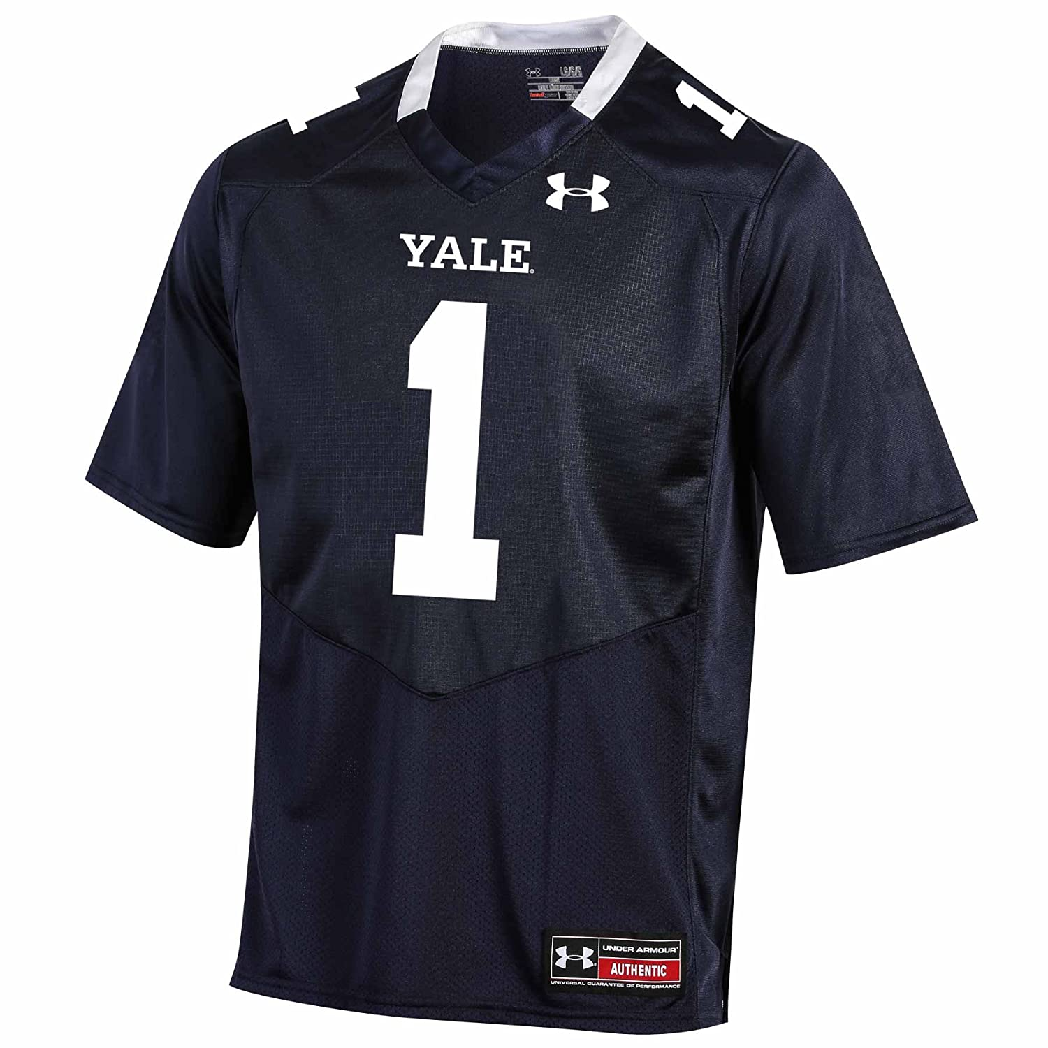 3X-Large Navy Under Armour NCAA Yale Bulldogs #1 Mens Official Sideline Jersey