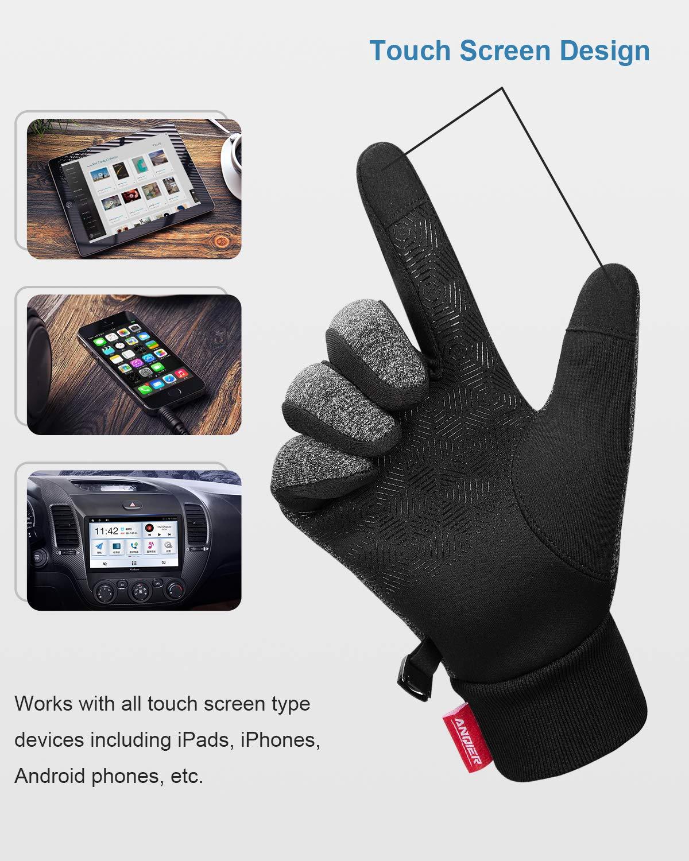 FengNiao Winter Warm Gloves Men Women Touchscreen Windproof Outdoor Running Skiing Driving Thermal Gloves
