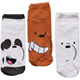 We Bare Bear Faces Adult 3-pack Low-cut Socks