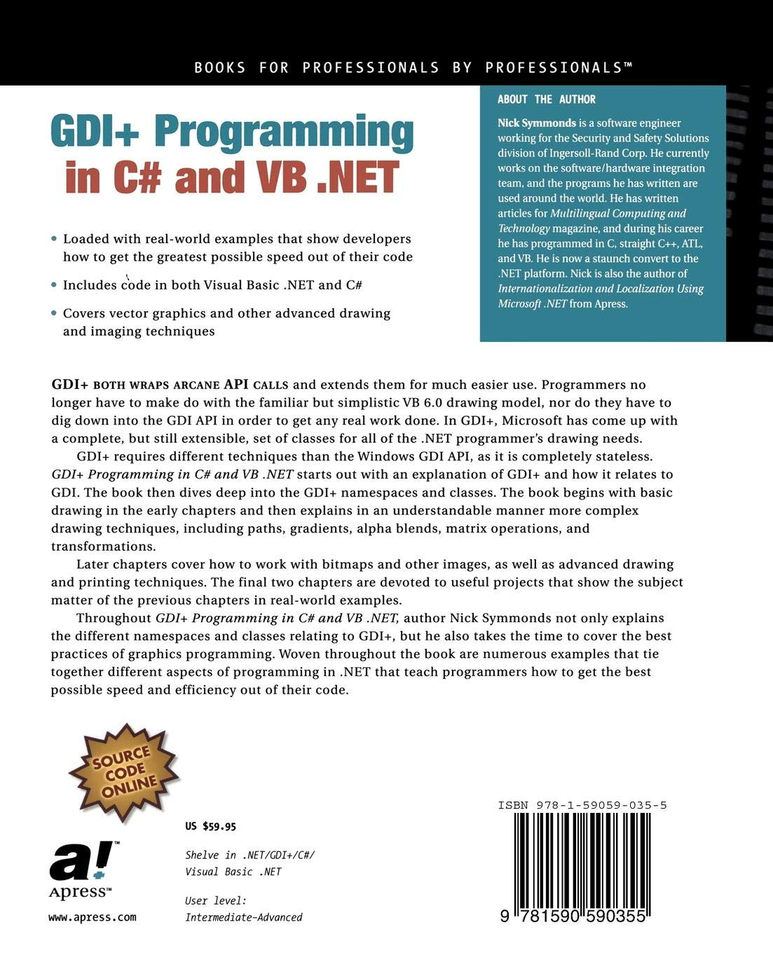 Buy GDI+ Programming in C# and VB  NET (Net Developer Series) Book