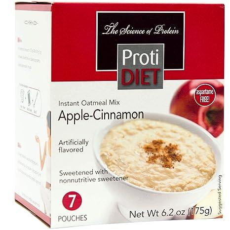 protidiet Oatmeal – Canela Apple (7 – 6,2 oz bolsas por caja ...