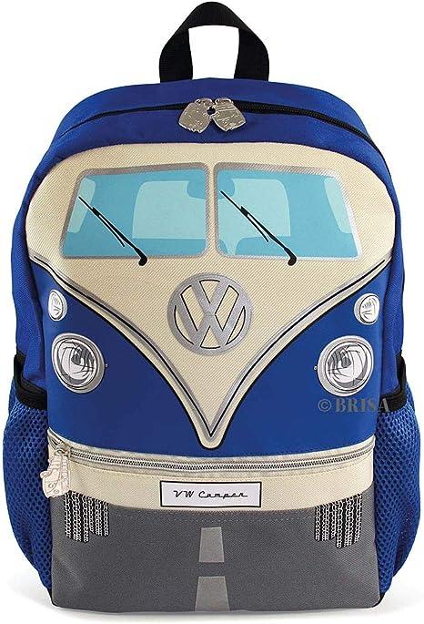 BRISA VW Collection Volkswagen Combi Bus T1 Camper Van Petit Sac à Dos pour Enfant, Sacoche rembourré avec de Nombreux Compartiments pour
