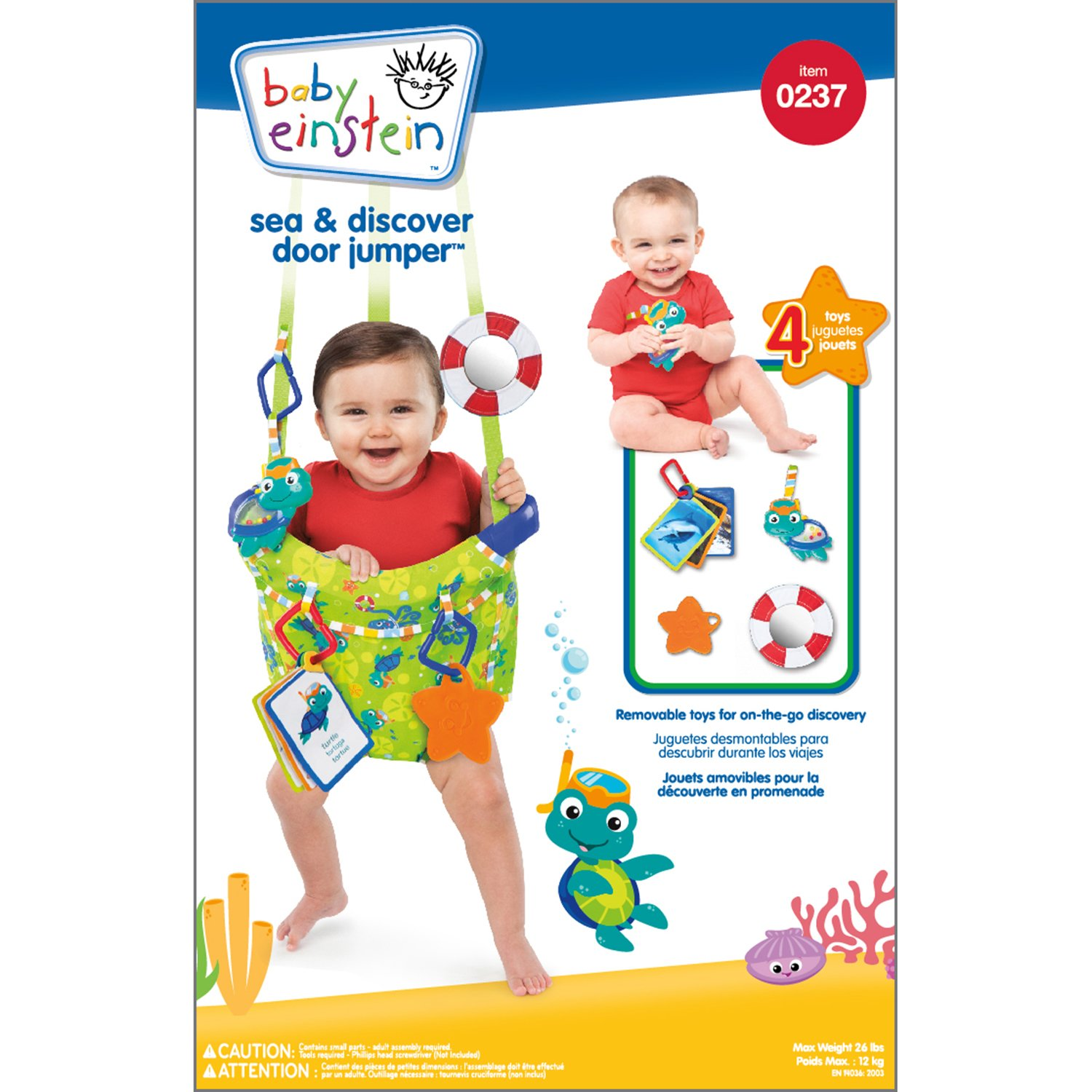 600dbabf4186 Baby Einstein SEA AND DISCOVER DOOR JUMPER  Amazon.co.uk  Baby