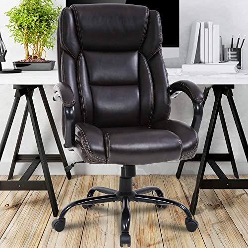 Big Tall Executive Office Chair Heavy Duty 500LBS Computer Desk Chair Ergonomic High Back Task Rolling Swivel Chair