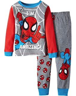 Marvel Spiderman Im Amazing Toddler Boy Cotton Tight Fit Pajamas