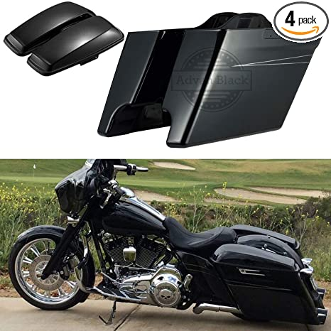 Vivid//Glossy Black Lower Vented Fairings Rushmore Leg Warmer Kits with Glove Box Fit for Harley Touring Road Glide Road King Street Glide Electra Glide 2014 2015 2016 2017 2018 2019 US STOCK