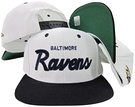 212c0e83c1a Image Unavailable. Image not available for. Color  Baltimore Ravens  White Purple Script Two Tone Adjustable Snapback Hat   Cap